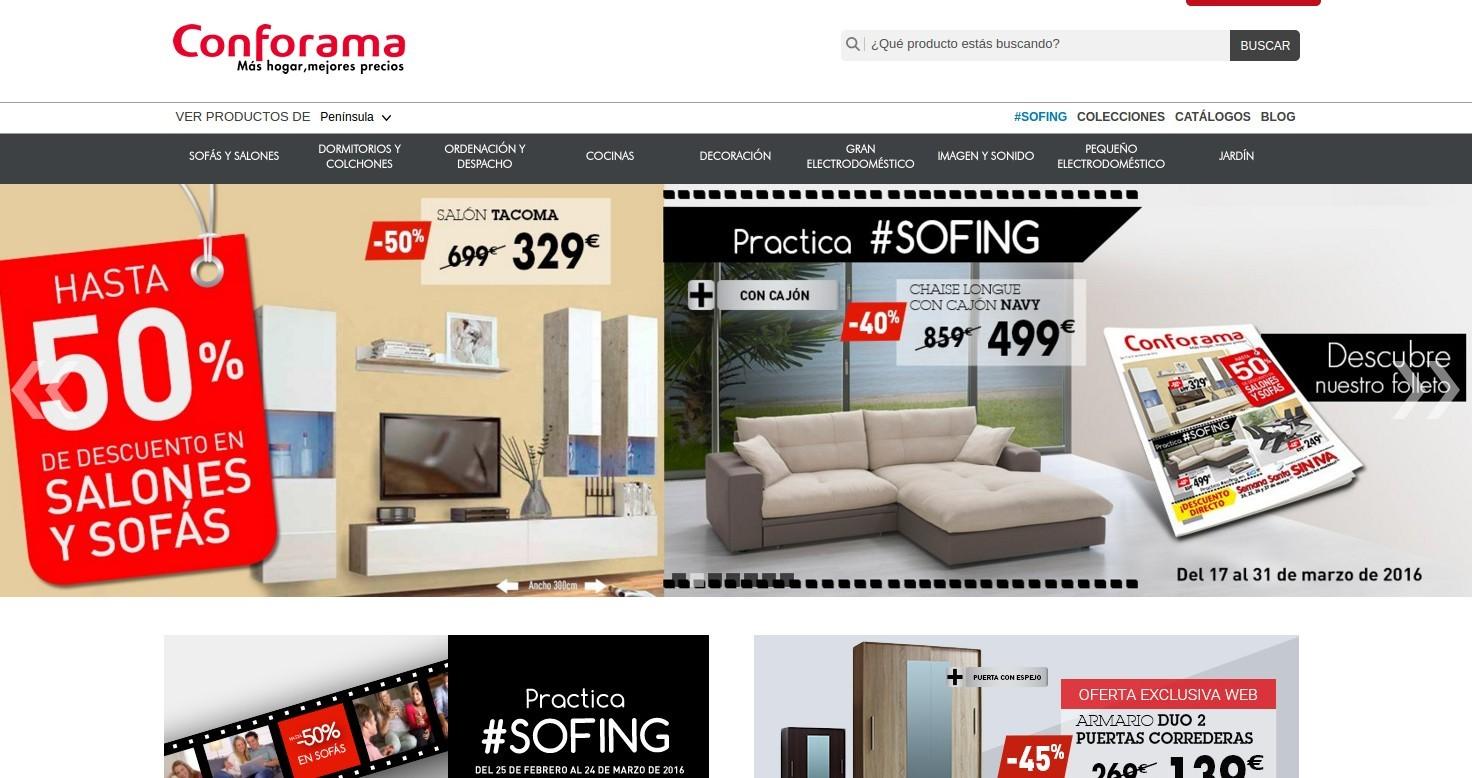 sitio web conforama