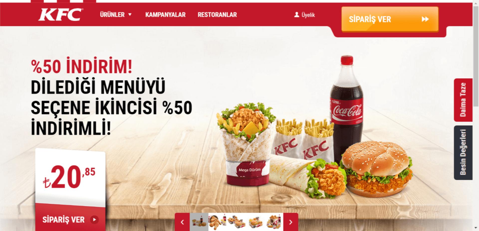 KFC İndirim Kampanyası